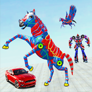Flying Robot Horse Transform Car Game 2021