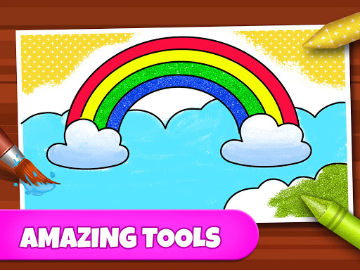 Coloring Games: Coloring Book, Painting, Glow Draw  screenshots 10
