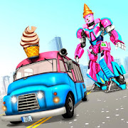 Ice Cream Robot Truck Game - Robot Transformation