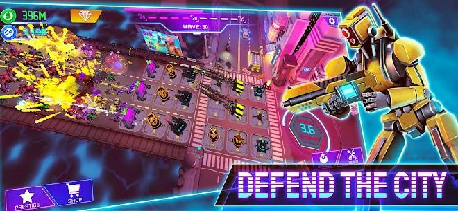 Cyber Fusion – Idle Merge Defence Mod Apk 1.4.1 (Free Shopping) 1