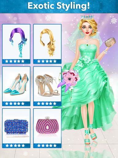 Ice Princess Wedding Dress Up Stylist 0.11 screenshots 17