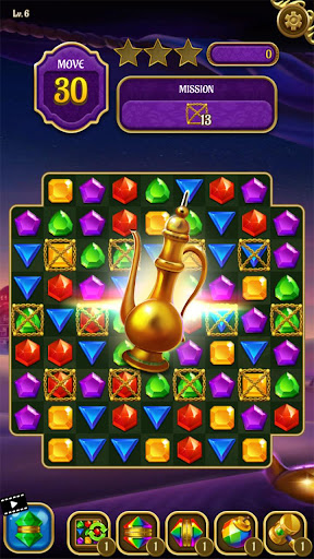 Magic Lamp - Genie & Jewels Match 3 Adventure apkpoly screenshots 5
