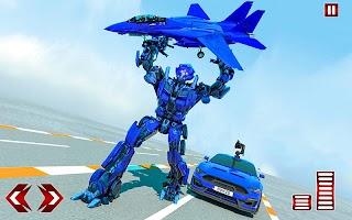 Flying Car Games - Super Robot Transformation Game