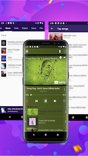 Glow Music - free music player Screenshot