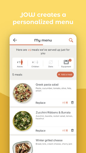 JOW: personalized recipes & groceries android2mod screenshots 3
