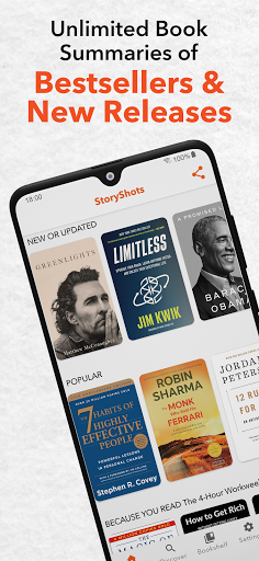 StoryShots - Book Summaries & Free Audio Books screen 0