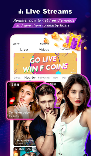 FaceCast:Make New Friends, Chat & Meet, Livestream android2mod screenshots 10