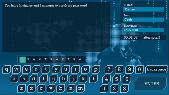 I Hacker - Password Break Puzzle Game 2 screenshots 1
