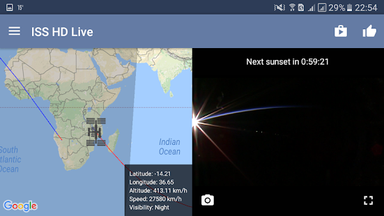 ISS Live Now: Live HD Earth View and ISS Tracker 6.2.9 Screenshots 13