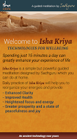 screenshot of Isha Kriya
