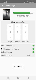 time lock for images