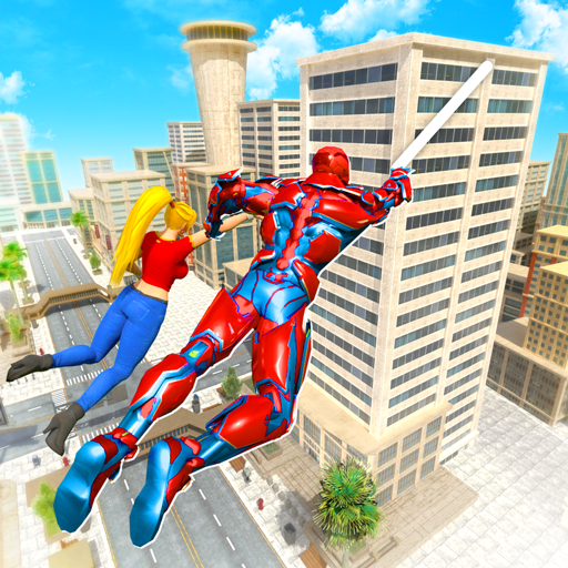 Flying Police Robot Rope Hero: Gangster Crime City APK