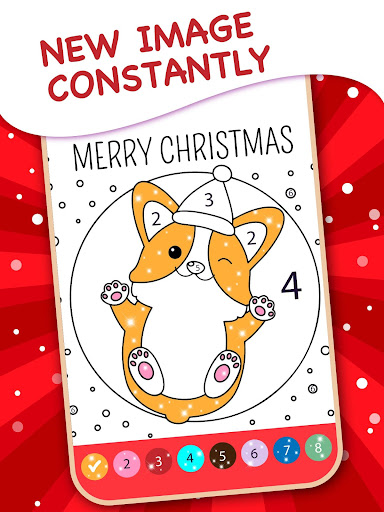 Christmas Coloring Book By Numbers 2.4 screenshots 12