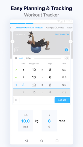 JEFIT Workout Tracker, Weight Lifting, Gym Log App apktram screenshots 3