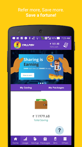 Cell.Fish - Safe SMS, Slick Dialer, Save Money Wiz apktram screenshots 8