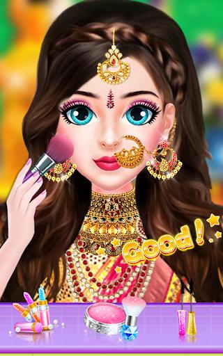 Indian Bride Stylist Dressup & Beauty Makeup Game screenshots 10