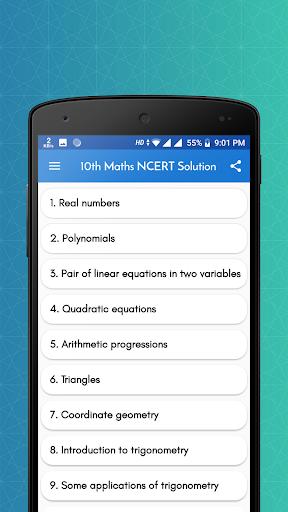 Class 10 Maths NCERT Solution android2mod screenshots 1