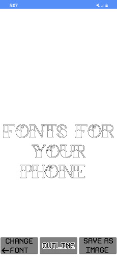 Text Fonts - outline fonts - write calligraphy  Screenshots 5