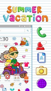 Summer Vacation Doodle Theme For Pc – Download For Windows 10, 8, 7, Mac 3