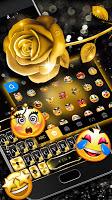 Gold Rose Lux Keyboard Theme