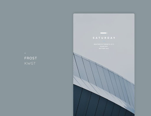 Download APK: Frost KWGT v5.1 [Paid]