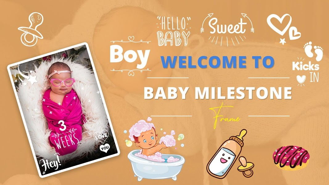 BABY PHOTO EDITOR: BABY MILESTONE & BABY SHOWER