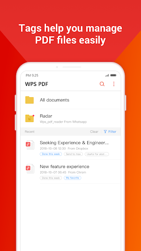 WPS PDF -  Free For PDF Scan, Read, Edit, Convert 1.8.9 Screenshots 1
