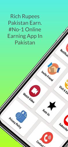 Rich Rupees Pakistan Earn - Make Mony Online screenshots 2