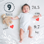 Baby Story Tracker Milestone Sticker Photo Editor
