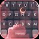 最新版、クールな Pink Aesthetic Sky のテーマキーボード