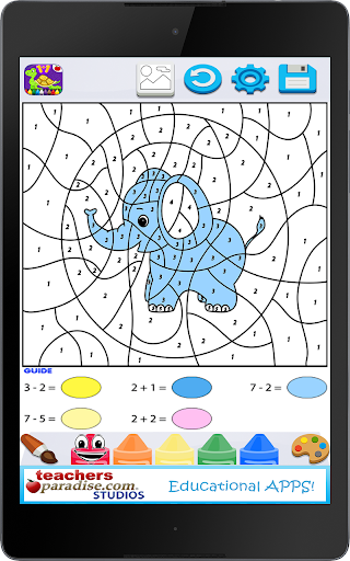 Kids Math Paint by Number Game 2 screenshots 10