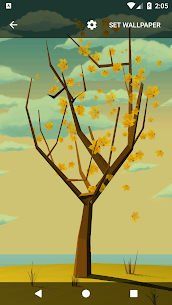 Tree With Falling Leaves Live Wallpaper – FREE 1.7.0 APK Mod Updated 3
