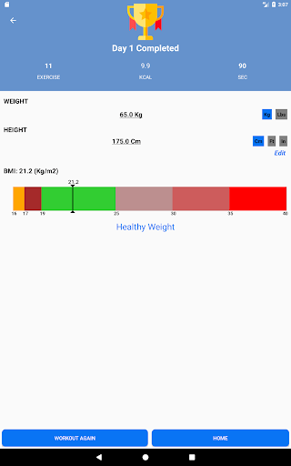 Home Workouts - No equipment - Lose Weight Trainer 18.61 Screenshots 14