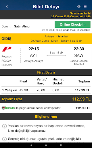 Ucuzabilet - Flight Tickets 3.1.8 Screenshots 15