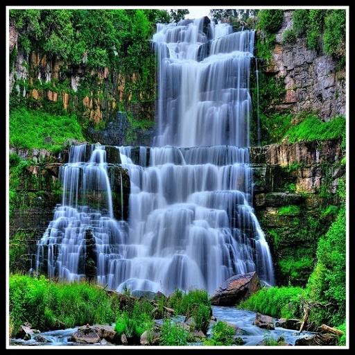 Водопад обои