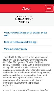 Journal of Management Studies For Pc – Download On Windows 7/8/10 And Mac Os 1