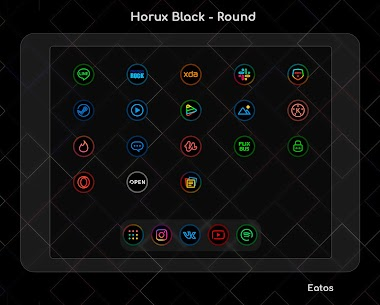 Horux Black APK- Round Icon Pack (PAID) Download 6