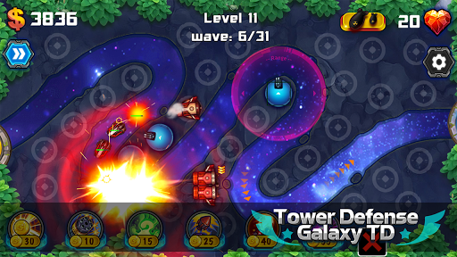 Tower Defense: Galaxy TD 1.3.2 screenshots 1