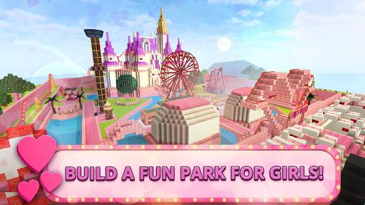 Girls Theme Park Craft: Water Slide Fun Park Games  Screenshots 1