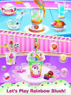 Unicorn icy slush maker-frozen food game