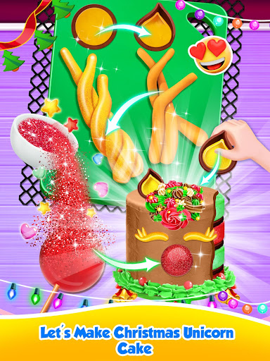 Unicorn Food - Sweet Rainbow Cake Desserts Bakery 3.1 screenshots 4