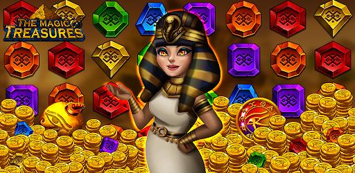 The magic treasures: Pharaoh's empire puzzle apkslow screenshots 1