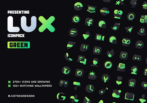 Download APK: Lux Green Icon Pack v1.0 [Patched]