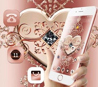Rose Gold Diamond Heart Luxury Theme 4