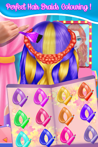Fashion Braid Hairstyles Salon-girls games apkdebit screenshots 3