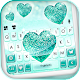 Sparkle Glitter Heart Keyboard Theme
