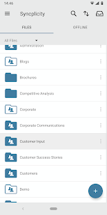 Syncplicity Screenshot
