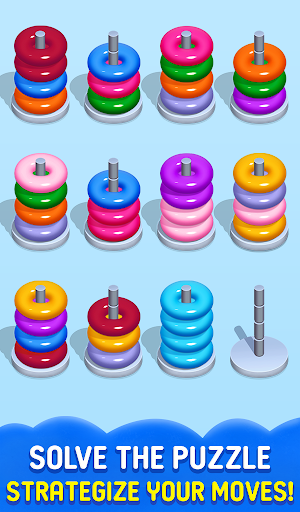 Stack Sort Puzzle - Color Sort - Hoop Sort Stack Apkfinish screenshots 3