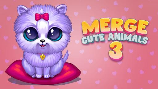 Merge Cute Animals 3: Fluffy Pet World Merger Game  screenshots 1