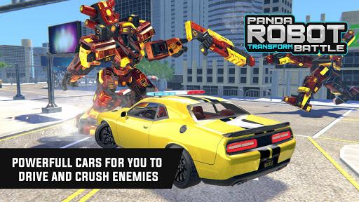 Police Panda Robot Car Transform: Flying Car Games  screenshots 18